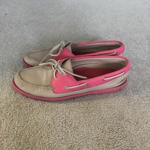 Pink Sperry Topsiders